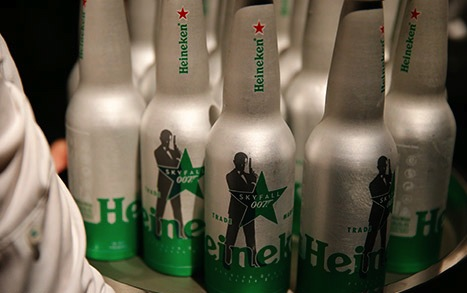Heineken James Bond Skyfall themed Beer Bottles