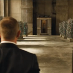 James Bond is greeted by Raoul Silva in Skyfall