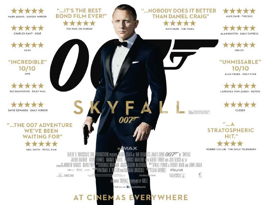 New Skyfall Movie Poster featuring Daniel Craig James Bond