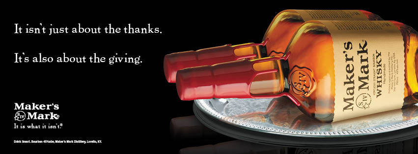Maker's Mark Advertisement for Thanksgiving
