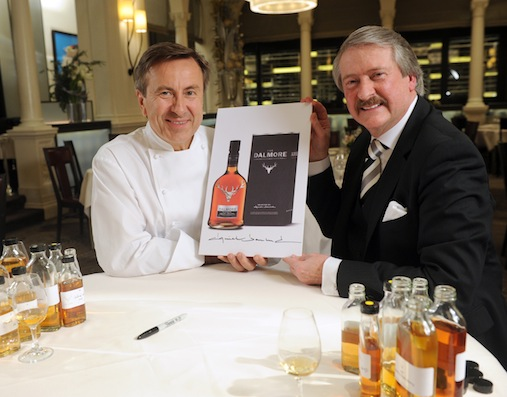 Chef Daniel Boulud and Richard Paterson during the process of selecting whiskies to be blended to create The Dalmore Selected by Daniel Boulud