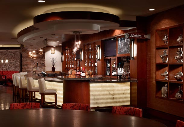 Charr'd Bourbon Lounge at Louisville Marriott East Bourbon Themed Hotel