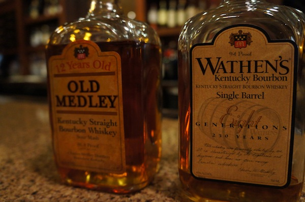 Old Medley Bourbon and Wathen's Bourbon
