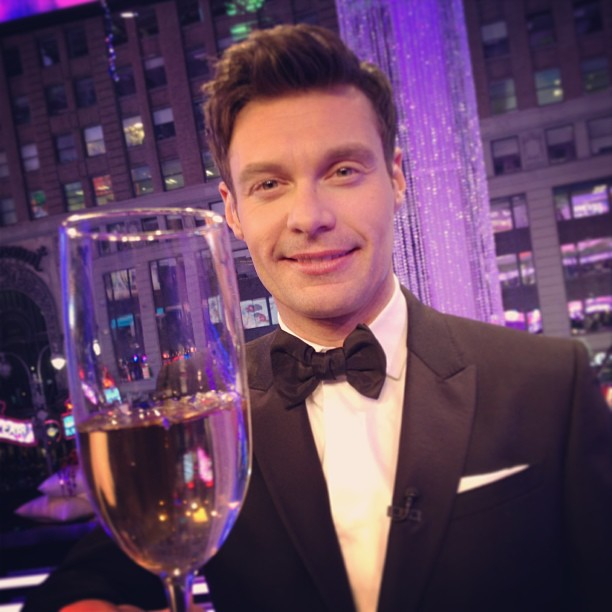 Ryan Seacrest toasts on Dick Clark's New Years Rockin'  Eve