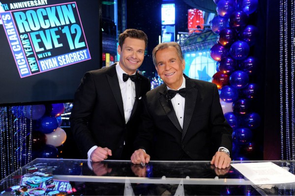 Ryan Seacrest and Dick Clark for Dick Clark's New Years Rockin' Eve 2012