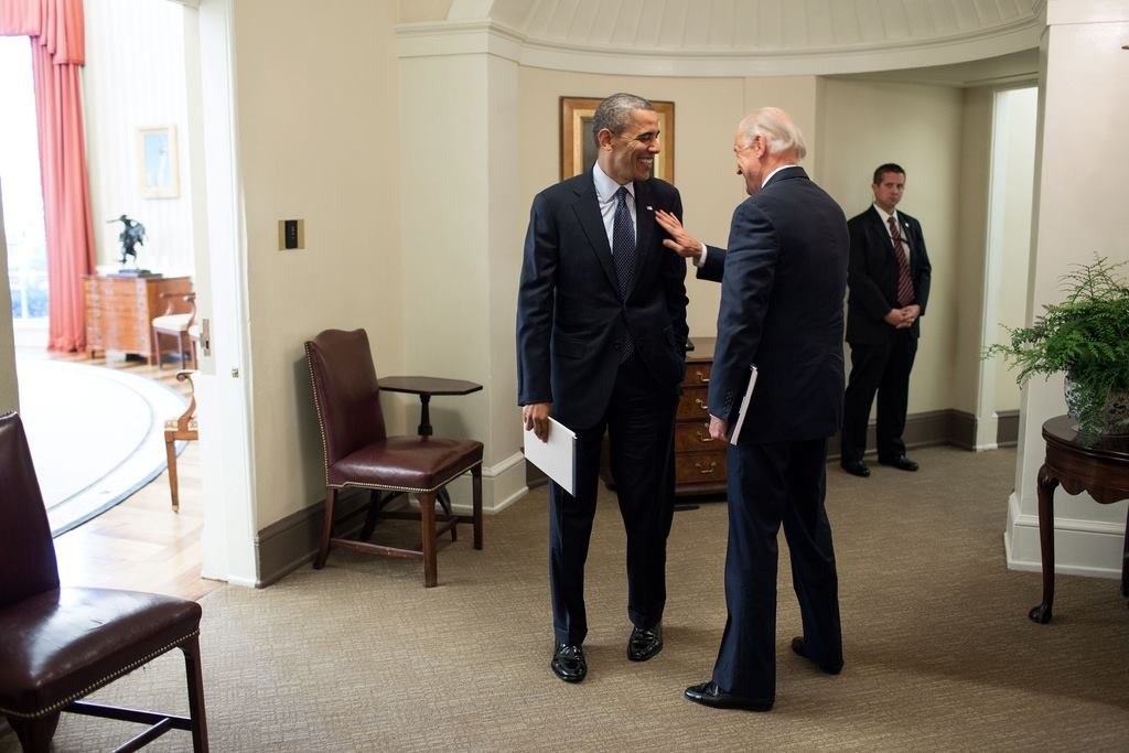 President Barack Obama prepares for his Inauguration with Vide President Joe Biden