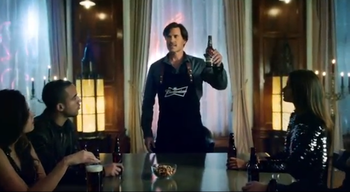 Toasting the Coronation of Budweiser_Black Crown Beer in the Commercial