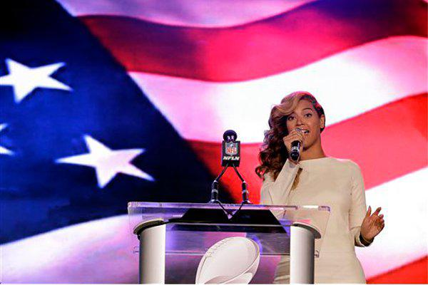 Beyonce sings national-anthem for super bowl  XLVII 2013