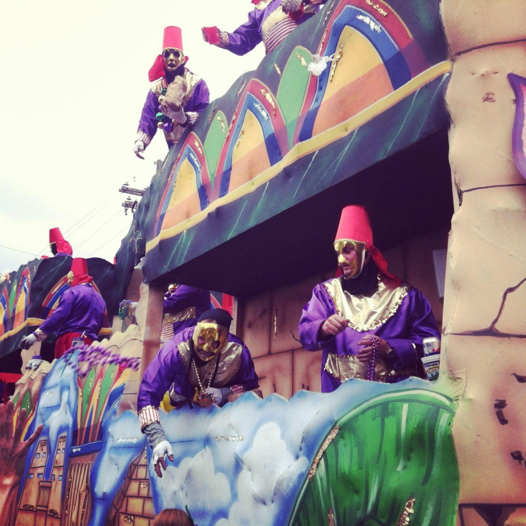 Mardi Gras Float in a Parade, New Orleans 2013