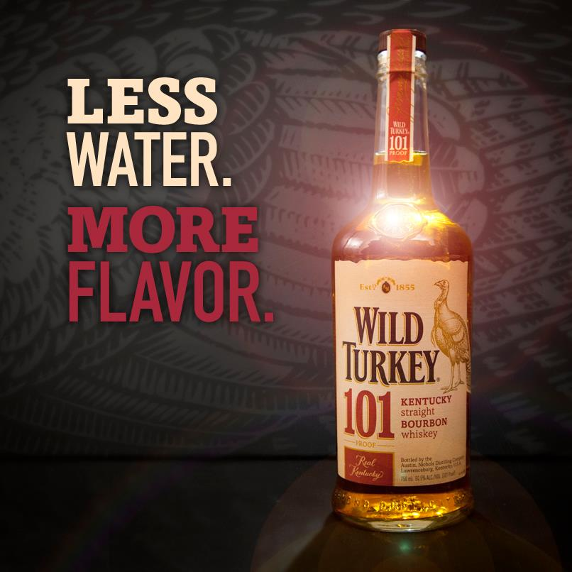 Wild Turkey Less Water More Flavor