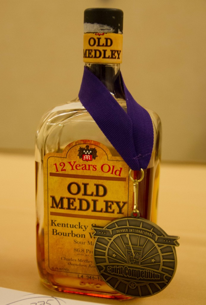 Old Medley 12 Year Old Bourbon wins Double Gold and Best of Show