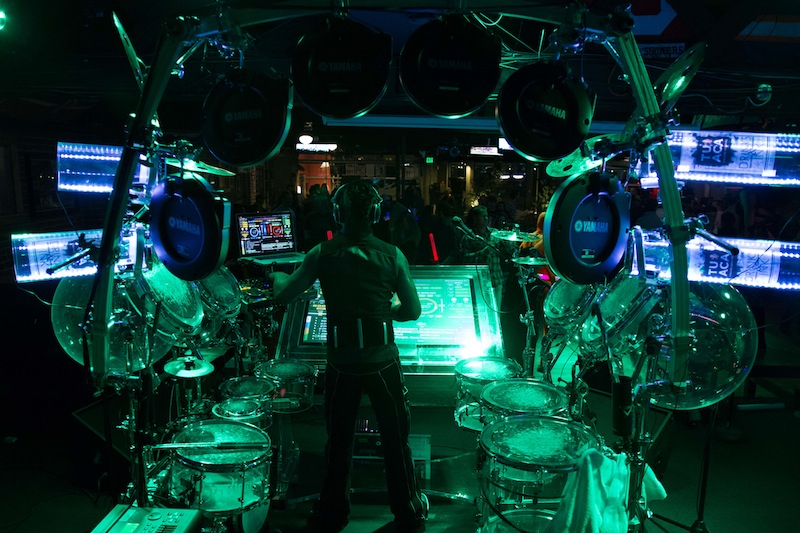 DJ Ravidrums performs on more than drumset. This is the world's most advanced custom DJ rig designed with NASA scientists.