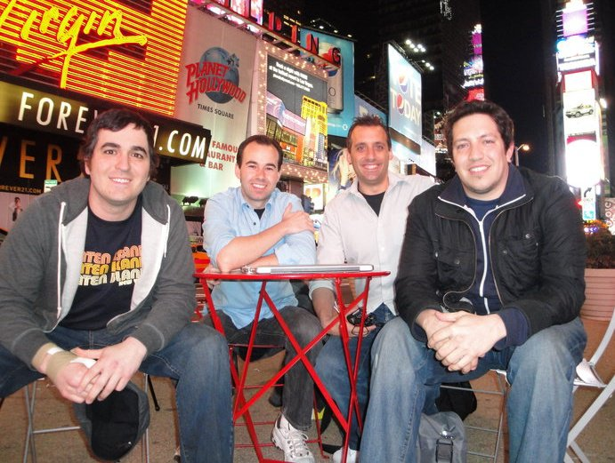 The Tenderloins are Q,  Joe Gatto, Murr, and Sal Vulcano
