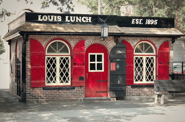Louis Lunch in New Haven, Connecticut