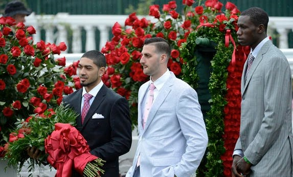 Gorgui Dieng and teammates at Kentucky Derby 2013