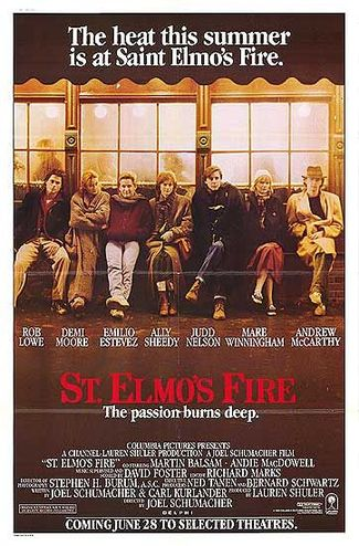 St Elmos Fire Movie Poster