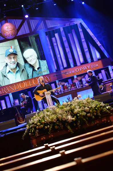 Travis Tritt performs at George Jones Funeral Service Grand Ole Opry
