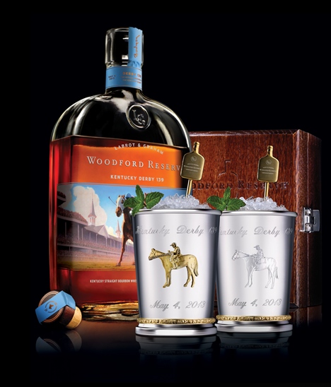 Woodford Reserve Kentucky_Derby 100 Dollar Mint Julep Cups for 2013