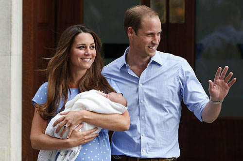 "Prince William and Duchess Kate  with Royal Baby ""Prince George Alexander Louis"""