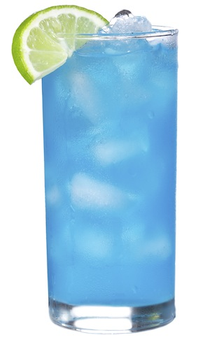 Blue Curacao cocktail