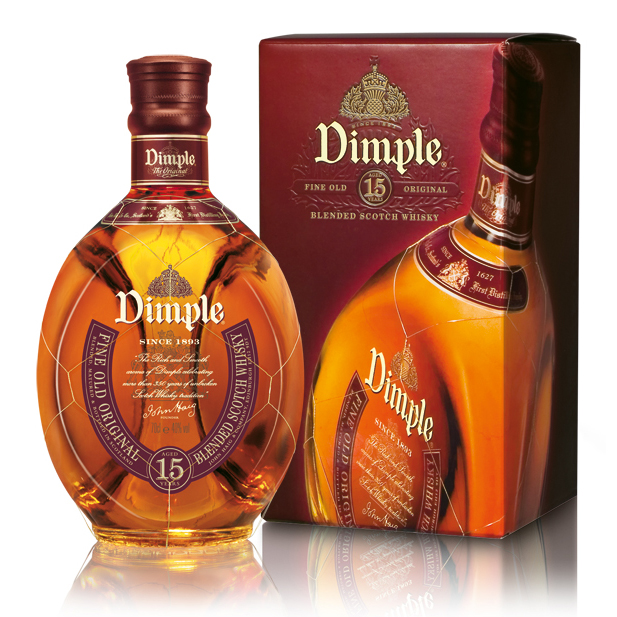 Dimple Pinch Scotch Bottle