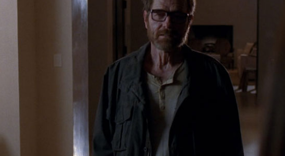 Walter White with Hair in Series Finale