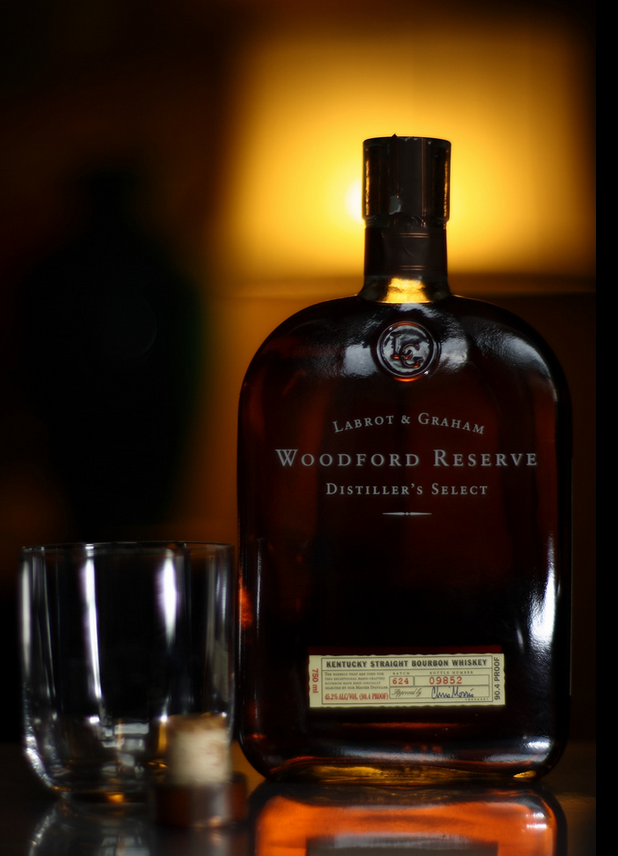 Woodford Bourbon bottle