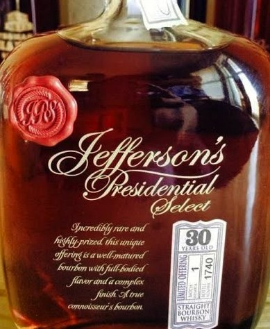 Jefferson Presidential Select 30 year Old Bourbon