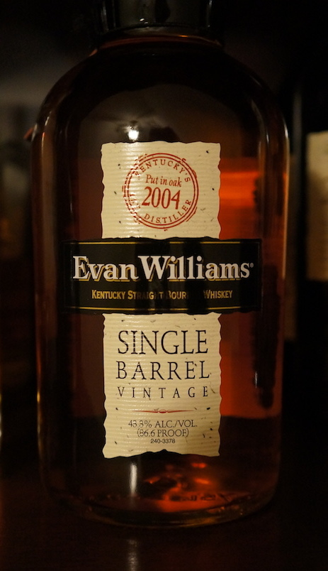 Evan Williams Single Barrel Vintage 2004