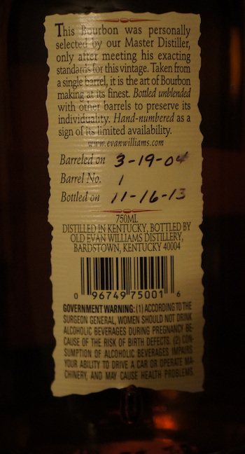 Evan williams label