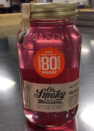 Ole Smoky 80 proof flavored moonshine