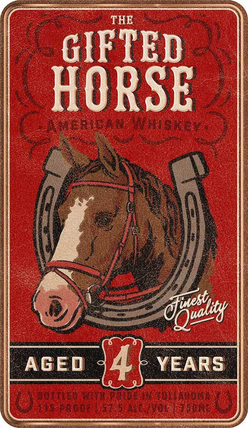 Gifted_Horse_Whiskey_label