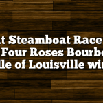 Great Steamboat Race 2011 with Four Roses Bourbon as Belle of Louisville wins!