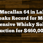 The Macallan 64 in Lalique Breaks Record for Most Expensive Whisky Sold at Auction for $460,000