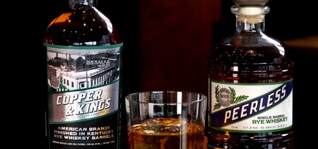 Peerless Distillery Rye and Copper and kings Brandy