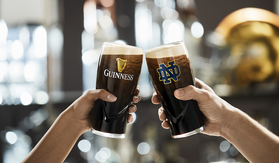 Guinness and Notre Dame Football Team Beer