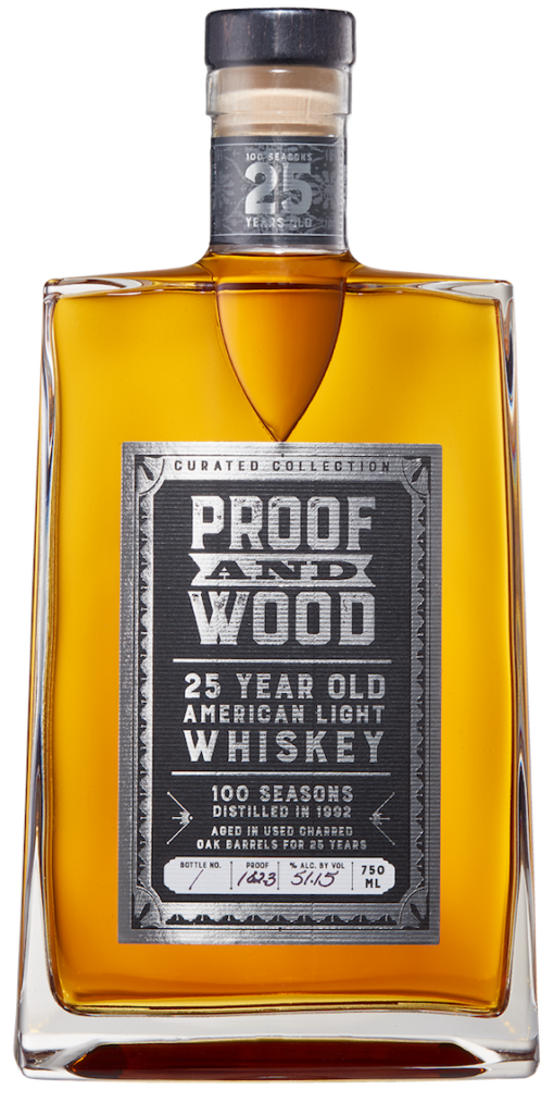 100 Seasons 25 Year Old Whiskey Proof and Wood Ventures