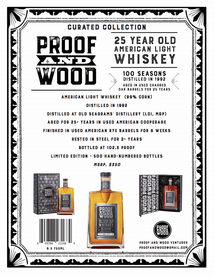 Proof and Wood 25 Year Old Whiskey